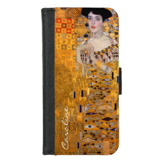 Vintages Klimt Adele Porträt mit Ihrem Namen iPhone 8/7 Geldbeutel-Hülle