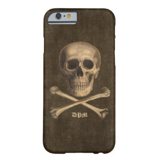 Vintages Knochen-Monogramm Barely There iPhone 6 Hülle