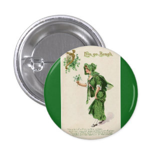 Vintages Knopf-Abzeichen St. Patricks Tages Anstecknadelbuttons