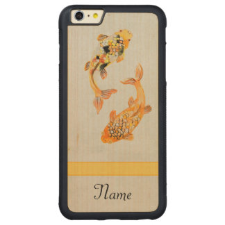 Vintages Koi Carved® Maple iPhone 6 Plus Bumper Hülle