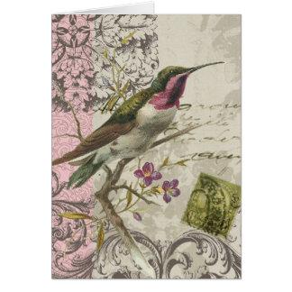 Vintages Kolibri… notecard Karte
