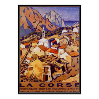 Vintages Korsika, Frankreich - Poster