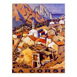 Vintages Korsika, Frankreich - Postkarte