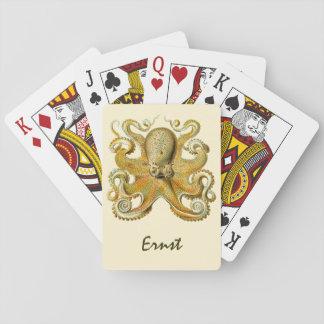 Vintages Kraken, Krake Gamochonia, Ernst Haeckel Spielkarten