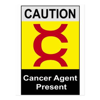 Vintages Krebs-Sicherheits-Zeichen Postkarte