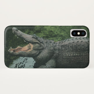 Vintages Krokodil, Marinetierlebens-Reptilien iPhone X Hülle