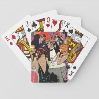 Vintages Kunst-Deko-Cocktail-Party am Nachtklub Spielkarten