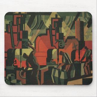 Vintages Kunst-Deko-Geschäfts-industrielle Mousepad