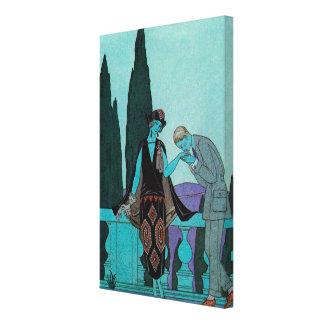 Vintages Kunst-Deko-La-Landhaus d'Este durch Leinwanddruck