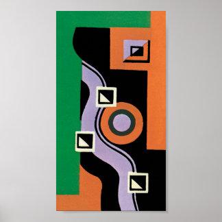Vintages Kunst-Deko Pochoir Poster