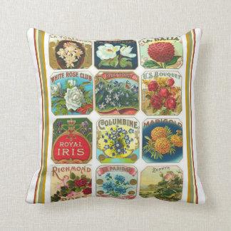 Vintages Kunst Nouveau Blumen-Samen-Kissen Kissen