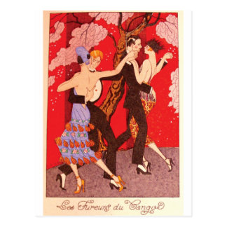 Vintages Kunst Nouveau ~ die Wut von Tango Postkarte