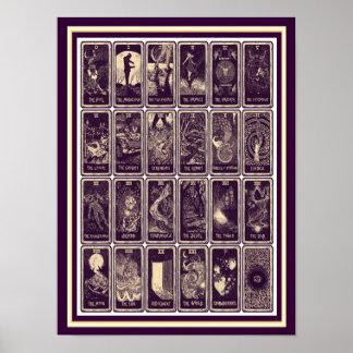 Vintages Kunst Nouveau Tarot-Karten-Plakat 12 x 16 Poster