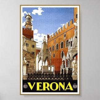 Vintages Kunst-Reise-Klassiker-Plakat Veronas Poster