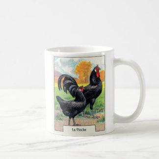 Vintages La Fleche Huhn Kaffeetasse