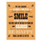 Vintages Lächeln-Plakat Postkarte