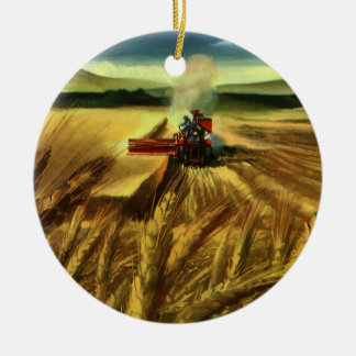 Vintages landwirtschaftliches Bauernhof-Geschäft, Keramik Ornament