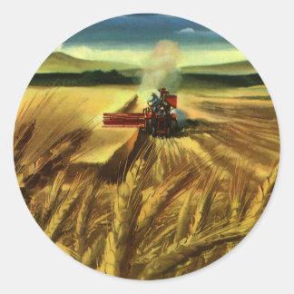 Vintages landwirtschaftliches Bauernhof-Geschäft, Runder Aufkleber