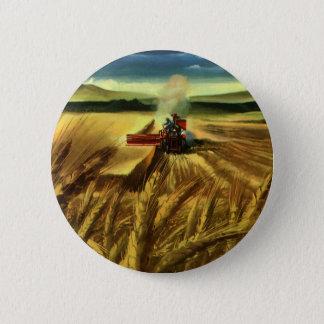 Vintages landwirtschaftliches Bauernhof-Geschäft, Runder Button 5,7 Cm