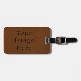 Vintages Leder gebräuntes Brown-Pergamentpapier Kofferanhänger
