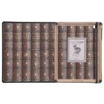 Vintages ledernes Bibliotheks-Effekt iPad DODOcase Hülle Fürs iPad