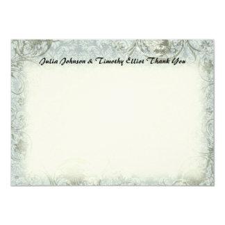 Vintages Liebe-Gedicht-blaues Grau danken Ihnen 11,4 X 15,9 Cm Einladungskarte
