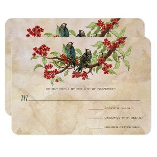 Vintages Liebe-Vogel-Tee-Fleck-Hochzeit UAWG Karte