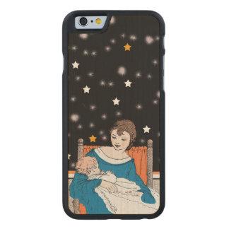 Vintages liebevolles Mutter-Baby hat den Tag der Carved® iPhone 6 Hülle Ahorn