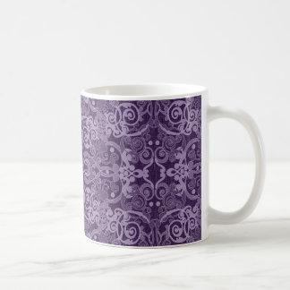 Vintages lila abstraktes kaffee haferl