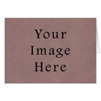 Vintages lila Rosen-Rosa-violettes Pergamentpapier Karte