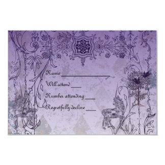Vintages lila Unicorn-uAwg mit Umschlägen Einladungen