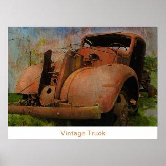 Vintages LKW-Plakat Poster