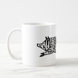 Vintages Lob das Schweinefett-lustige Schwein Kaffeetasse