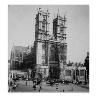 Vintages London England, Westminster Abbey 1903 Poster