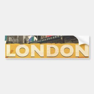 Vintages London-Plakat Autoaufkleber