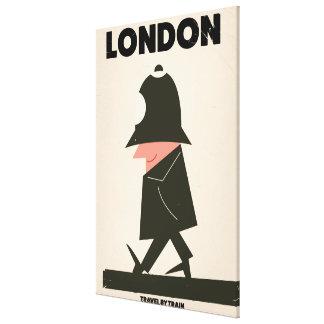 Vintages London-Polizistreiseplakat Leinwanddruck