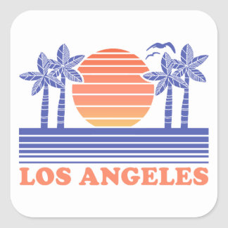 Vintages Los Angeles Kalifornien Quadratischer Aufkleber