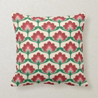 Vintages Lotos-Blüten-Blumen-Kissen Kissen