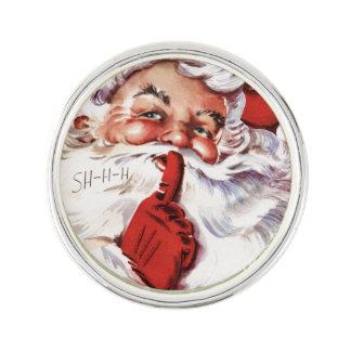 Vintages lustiges altes SanktShhh Weihnachten Anstecknadel
