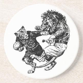Vintages lustiges Rugby Sandstein Untersetzer