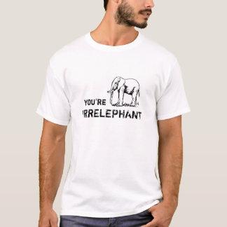 Vintages lustiges sind Sie irrELEPHANT T-Shirt