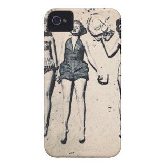 Vintages Mädchen BlackBerry-mutige Hüllen iPhone 4 Case-Mate Hüllen