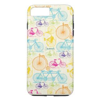 Vintages Mädchen-helles Farbfahrrad-Muster Iphone iPhone 7 Plus Hülle