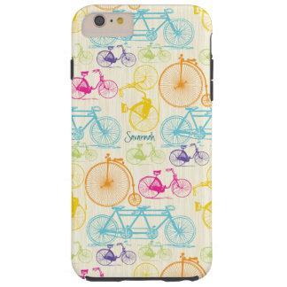Vintages Mädchen-helles Farbfahrrad-Muster Iphone Tough iPhone 6 Plus Hülle