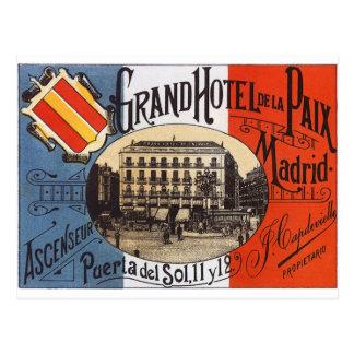 Vintages Madrid Postkarte