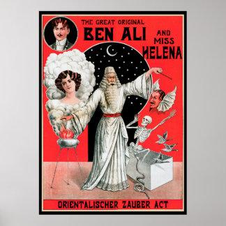 Vintages magisches Plakat, der große ursprüngliche Poster