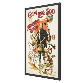 Vintages magisches Plakat, Magier Chung Ling Soo Leinwanddruck