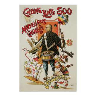 Vintages magisches Plakat, Magier Chung Ling Soo Poster