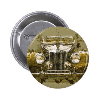 Vintages Magnesium-Sport-Auto Runder Button 5,7 Cm