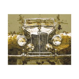 Vintages Magnesium-Sport-Auto Galerie Gefaltete Leinwand